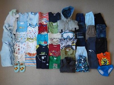 Baby Boys Size 0, 6 - 12 months, HUGE Lot of Clothing, 41 Items, VGUC - As New