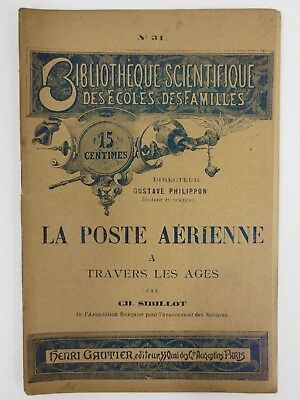 Antique 1887 Booklet on Air Mail with Homing Pigeons, Early Shipping Mailing