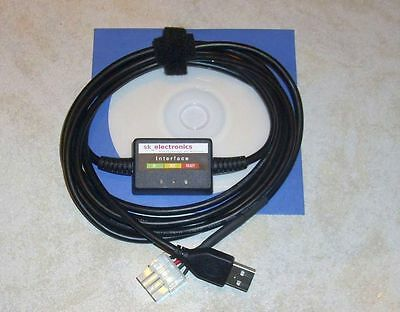 OMVL/EMMEGAS/ELPIGAZ(Elpigas)/VERSUS LPG GPL Diagnose Kabel USB INTERFACE+Softw.