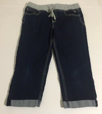 Justice 14 1/2 Denim Capri For Girls Plus Size Knit Waist Crop Jeans