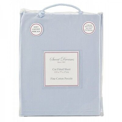Sweet Dreams COT FITTED SHEET BLUE