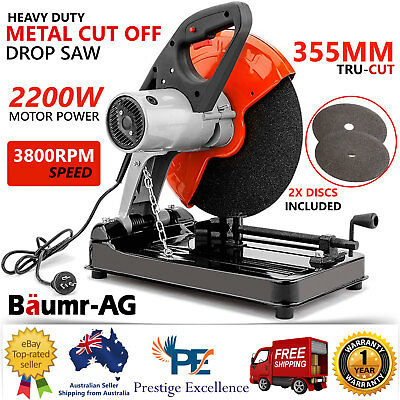 "Baumr-AG BCS-355 14"" Metal Cut-Off Saw w/ 2200W Powerful Motor Commercial Grade"