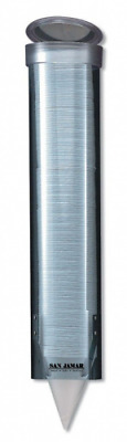 San Jamar C3165 Medium Pull Type Water Cup Dispenser, Fits 4oz to 10oz Cone and