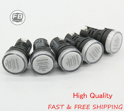 24V LED Indicator Pilot Signal Light Lamp 5 PCS White LED USA Shipping
