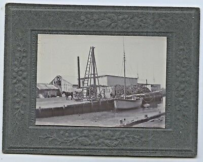 C1910 Board Photo Coastal Wharves/timber Pile South Australia Yorke Penin?  Q83