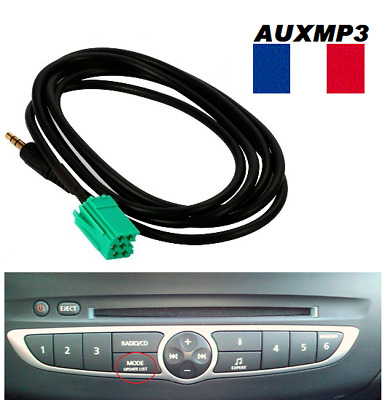 cable auxiliaire renault udapte list 6 pin clio 2 3 aux adaptateur udapte list chf. Black Bedroom Furniture Sets. Home Design Ideas
