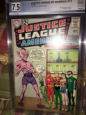 Justice League of America #11 (May 1962, DC) high grade of 7.5 PGX Very Fine-