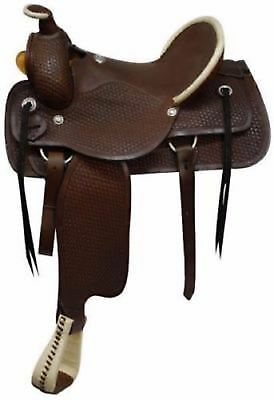 Western trail pleasure FRONTIER cowboy rodeo horse leather barrel saddle