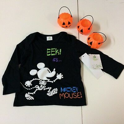 Disney Mickey Mouse Halloween Long Sleeved Top Age 6-9 Months BNWTS
