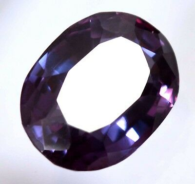 Color Change 15.00 Ct Natural Purple Sapphire GGL Certified AAA+ Gemstone