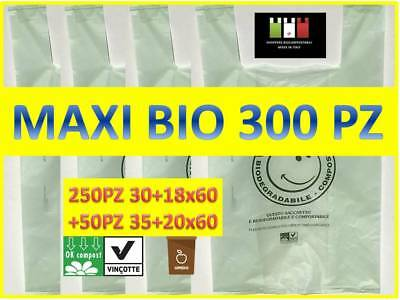 SHOPPER BIODEGRADABILI COMPOSTABILI BUSTE 30x60 BIOCOMPOSTABILE A NORMA EN13432