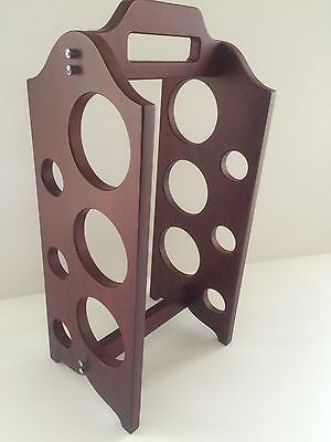 6 Bottle Wooden Wine Rack for Wine Bottle Storage and Party Bar Decoration