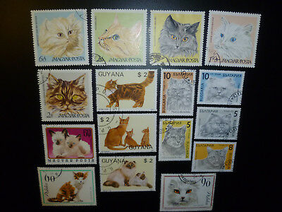 Briefmarken-KATZENMOTIVE-Lot-konvolut