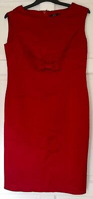 Pre-loved M&S Red Sleeveless Party Dress Size 16