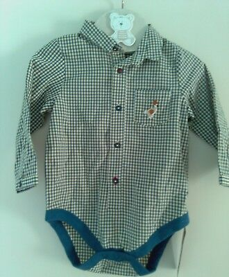 Baby Boys Blue Checked Shirt 12 - 18 months Toddler Shirt from M&S