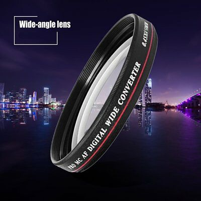 ZOMEI 52/55/58/62/67/72/77MM 0.45X Wide Angle Filter Camera Lens Wide Converter