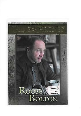 Game of Thrones Season 5 Roose Bolton #53 Gold Parallel /150
