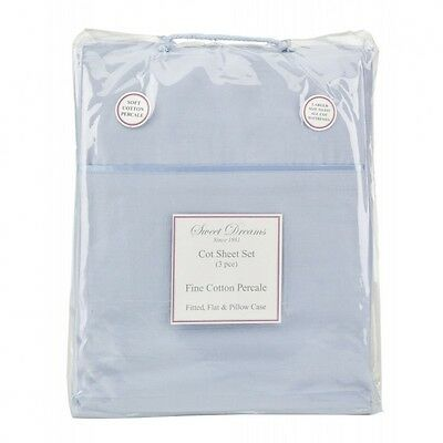 Sweet Dreams BLUE COT SHEET SET