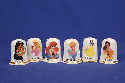 Disney Princesses Set of 6 China Thimbles B/172