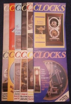 Clocks Magazine Jan to Dec 1982 Complete 12 Issues Volume 4 no 7 to Vol 5 no 6