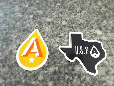 TWO DIFFERENT AUSTIN BEER WORKS Fire Eagle IPA TEXAS STICKER decal cg