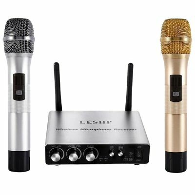 LESHP Wireless Microphone Karaoke for Music Playing Singing Machine KTV 25Ch