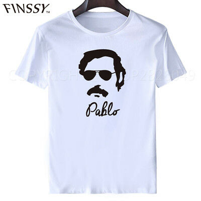 Pablo Escobar Narcos T Shirt Pablo Sunglasses Cartel Drug Lord Jail Simple Tee