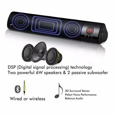 Portable Shockproof Wireless Bluetooth FM Stereo Speaker For Smartphone Tablet M