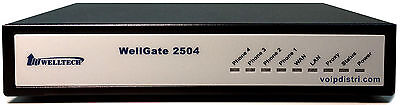 Welltech WellGate 2504, 4 port Analogue FXS VoIP Gateway, T38 FAX, 3CX, IPv6