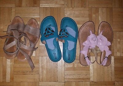 Lot Of Born Leather Sandals Size 9