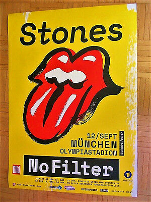 2017 rolling stones konzert tour poster m nchen olympiastadion eur 29 99 picclick de. Black Bedroom Furniture Sets. Home Design Ideas