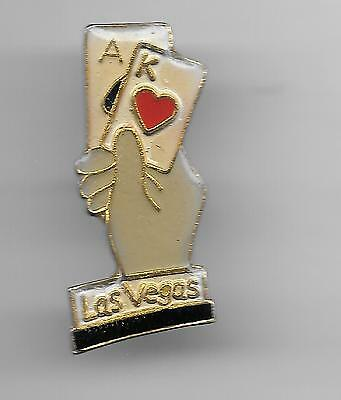 Vintage Las Vegas Blackjack Hand in Hand  lg old enamel pin