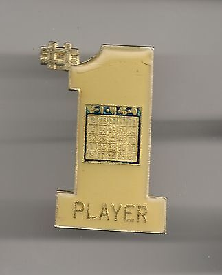 Vintage #1 Bingo Player old enamel pin