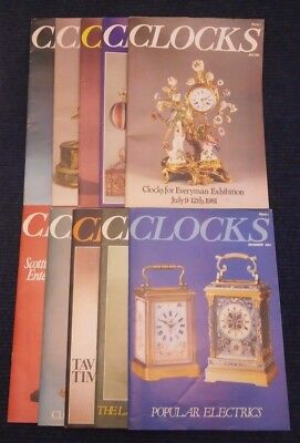 Clocks Magazine Jan, April to Dec 1982 10 Issues