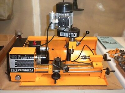Emco 5 Compact Lathe Lightly Used Excellent Condition