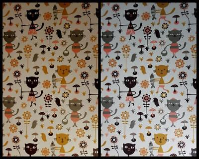 A4 Metallic Patterned Paper Cats for Invitations & Card Making New
