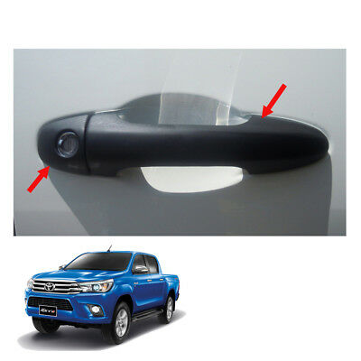 Matte Black 4 Dr Handle Cover Fits Toyota Hilux Revo SR5 M70 M80 UTE 15 2016 17