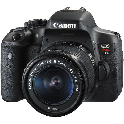 Canon EOS Rebel T6i Digital SLR Camera with EF-S 18-55mm f/3.5-5.6 IS STM Lens