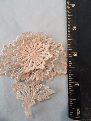 Lot of 6 Vintage Brussels Lace Medallions