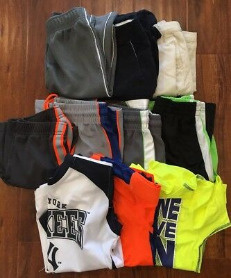 Lot of 10 Boys Size 7/8 Shirts and Shorts Puma Adidas NIKE Polo Ralph Lauren