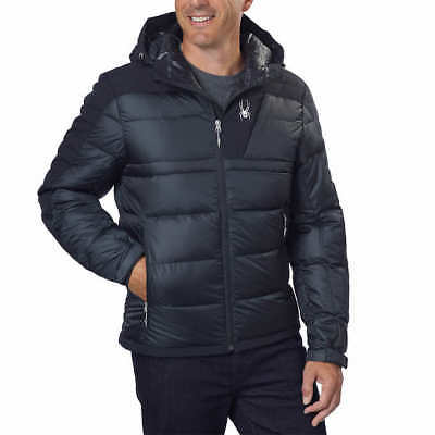 New With Tags Spyder Men's Bernese Down Jacket Men's Black Size M L Fall Winter