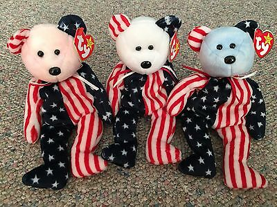 Ty Beanie Babies, Spangle (Red, White, and Blue)