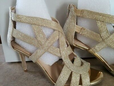 be83e7cf40 Marc Fisher Women Shoes US 8 Nala3 Gold Sandals Pre Owned retail 79.99