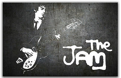 The Jam Ready To Hang Canvas 34 inches x 24 inches Paul Weller Bruce Foxton
