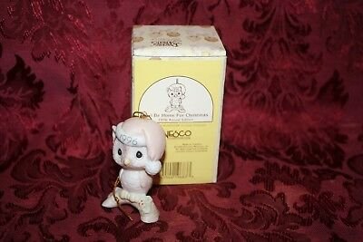 Precious Moments 1996 Annual # 128708 Owl Be Home For Christmas Ornament W/ Box