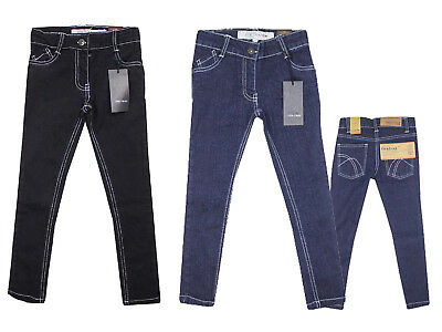 GIRLS Kids Black Blue Designer Denim Jeans Trouser Firetrap Age 2 3 4 5 6 7 Year