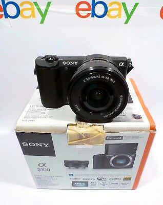 Sony Alpha A5100  W/ E PZ 16-50mm F3.5-5.6 OSS Lens Black   ONLY 3349 actuations