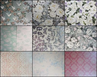 A4 Patterned Paper Birds Peonies Floral Bouqet Belladonna French Toile Shell New