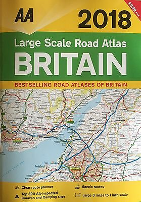 Aa Large Scale Road Atlas Britain Road Map 2018 Brand New Latest Edition **2018*