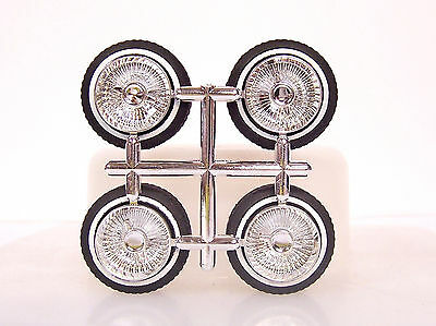 Hoppin Hydros 1/24 Scale CHROME MCs Plastic Model Lowrider Rims Wheels WW Tires!